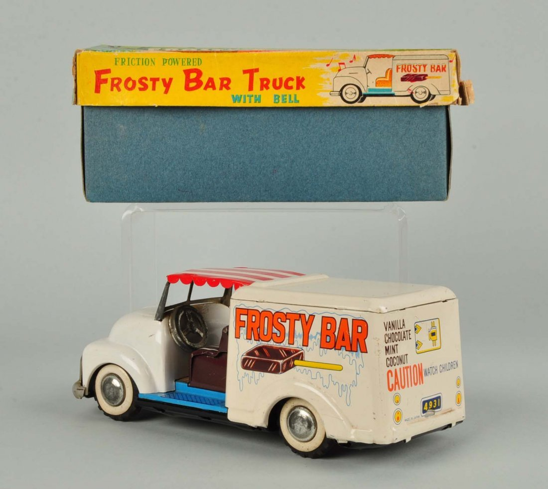 Japanese Tin Litho Friction Ice Cream Truck. - 2