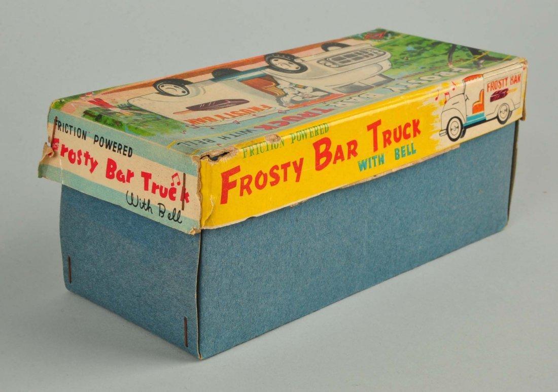 Japanese Tin Litho Friction Ice Cream Truck. - 4