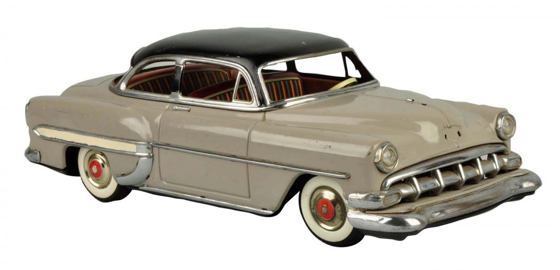 Japanese Marusan Tin Litho Friction '54 Chevy. - 2