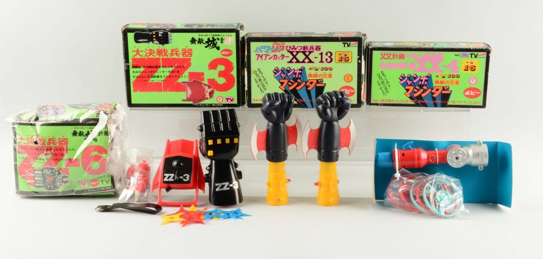 Lot Of 4: Jumbo Machinder Fist Accessories.