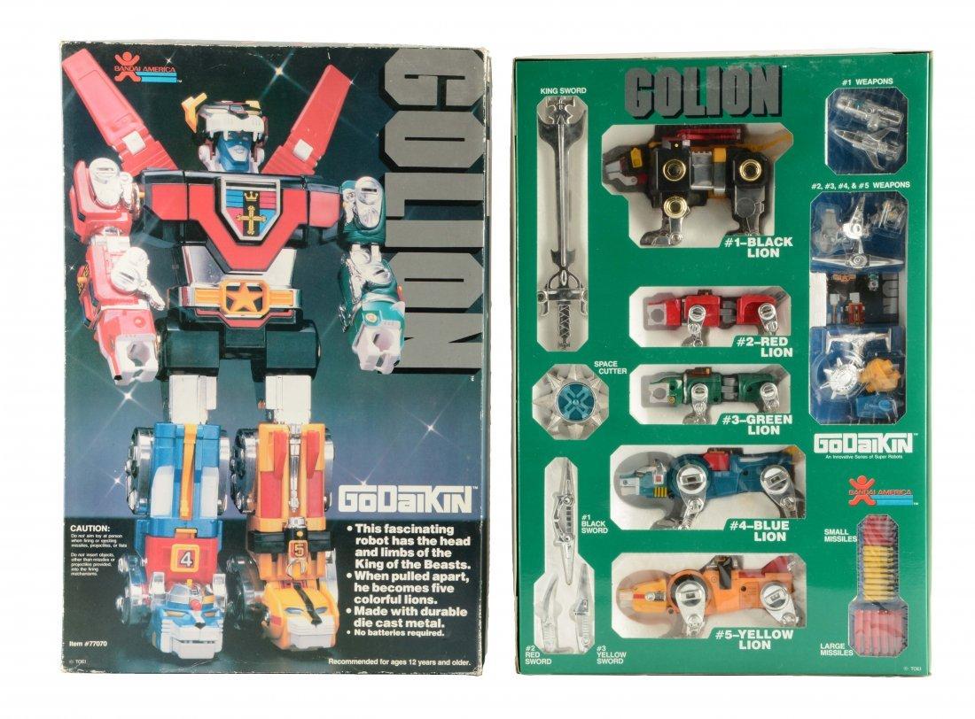 Iconic Golion (Voltron) by Popy & Bandai Toys.