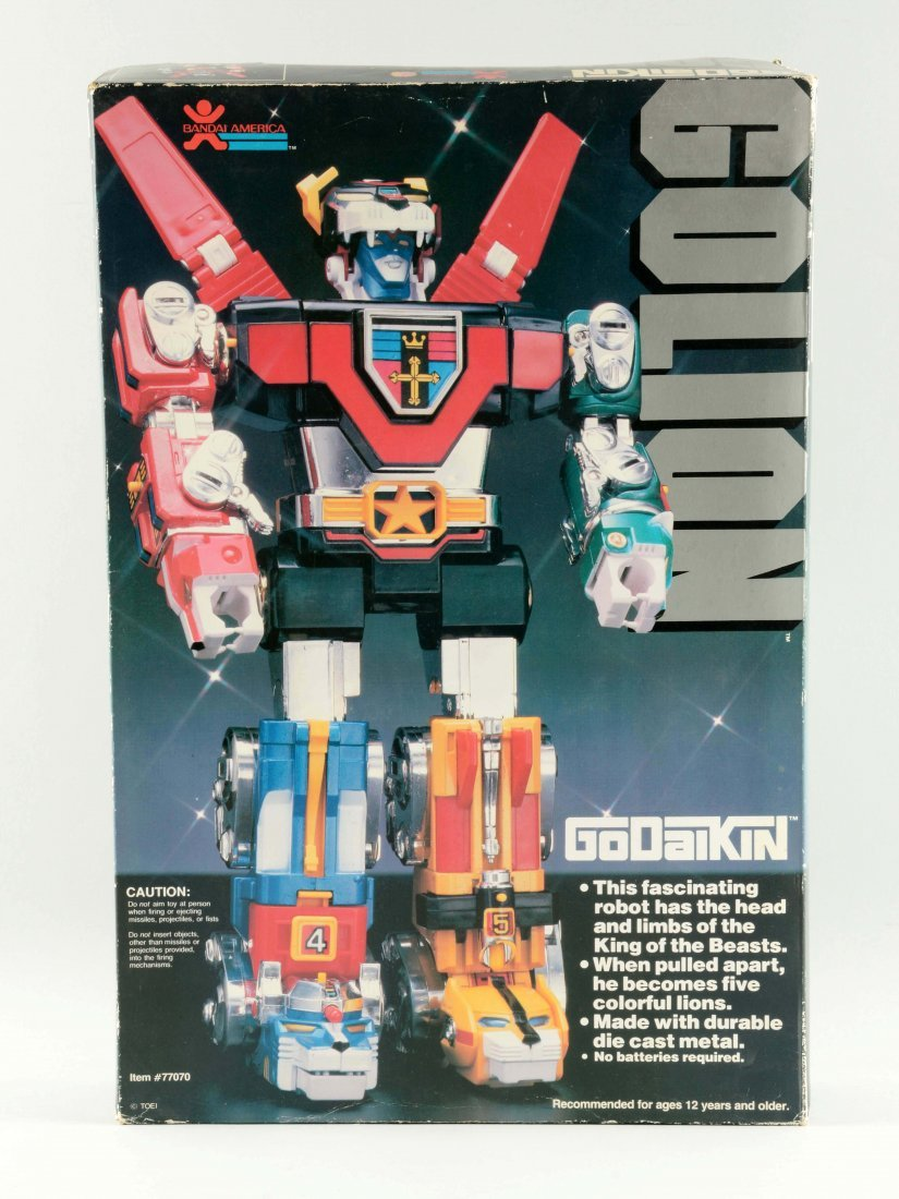 Iconic Golion (Voltron) by Popy & Bandai Toys. - 2