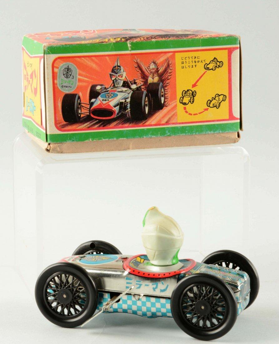 Yonezawa Tin Litho Mirrorman Wind-Up Toy Car. - 2