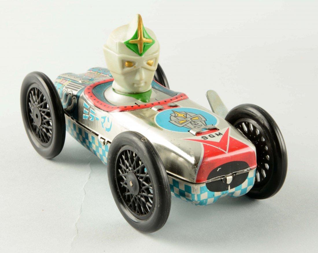 Yonezawa Tin Litho Mirrorman Wind-Up Toy Car. - 3