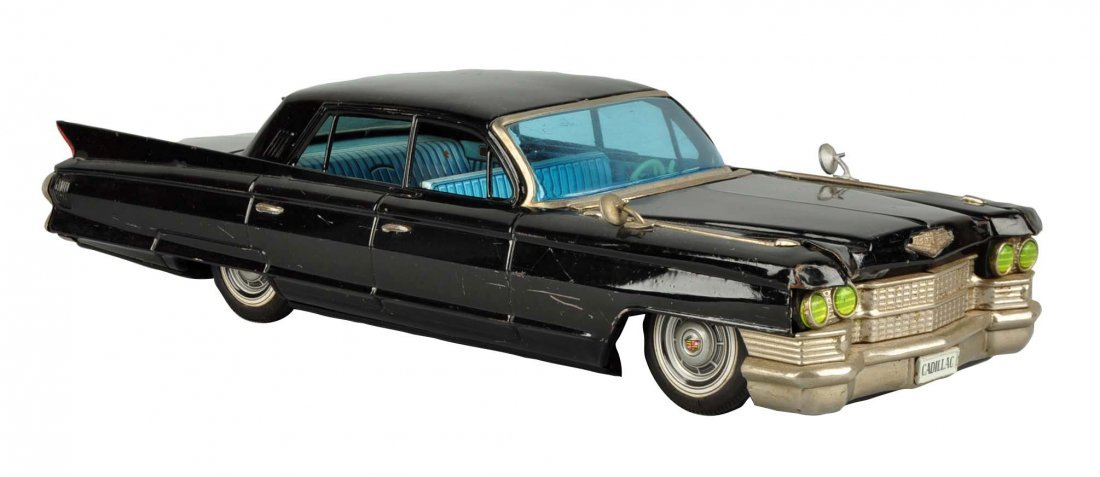 Japanese Tin Litho Friction Cadillac Sedan.