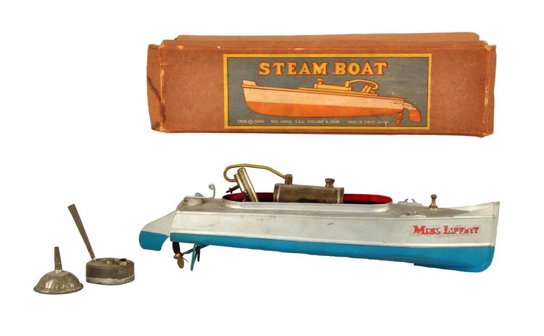Pre War Japanese Miss Liberty Steam Boat.