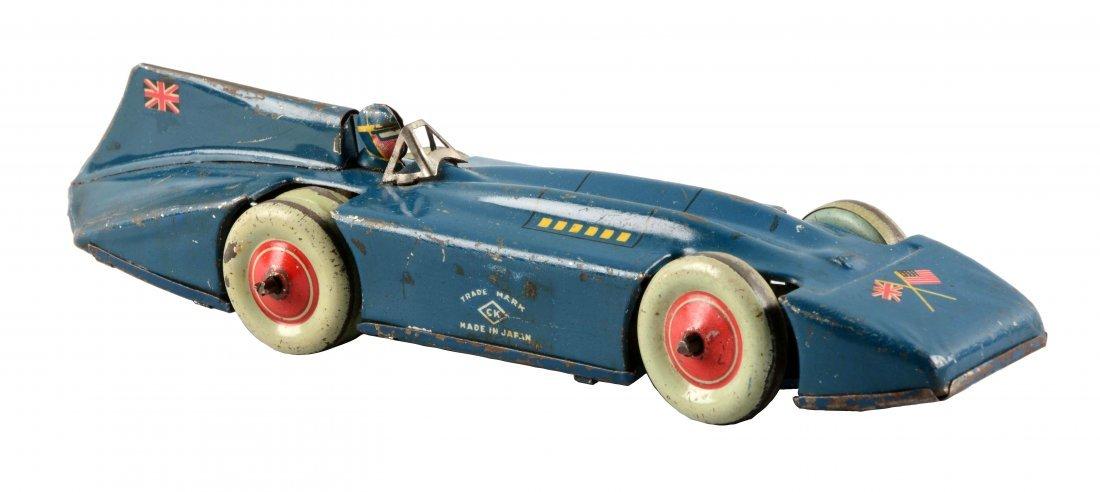 Pre War Japanese Tin Litho Blue Bird Race Car.