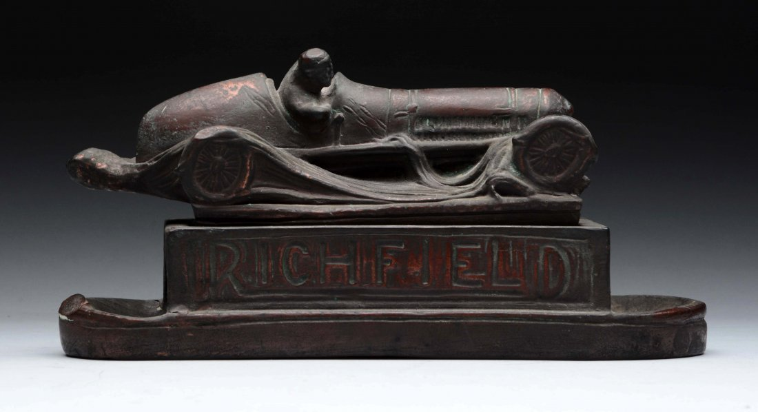 Unusual Composition Richfield Racing Car Cigar Box
