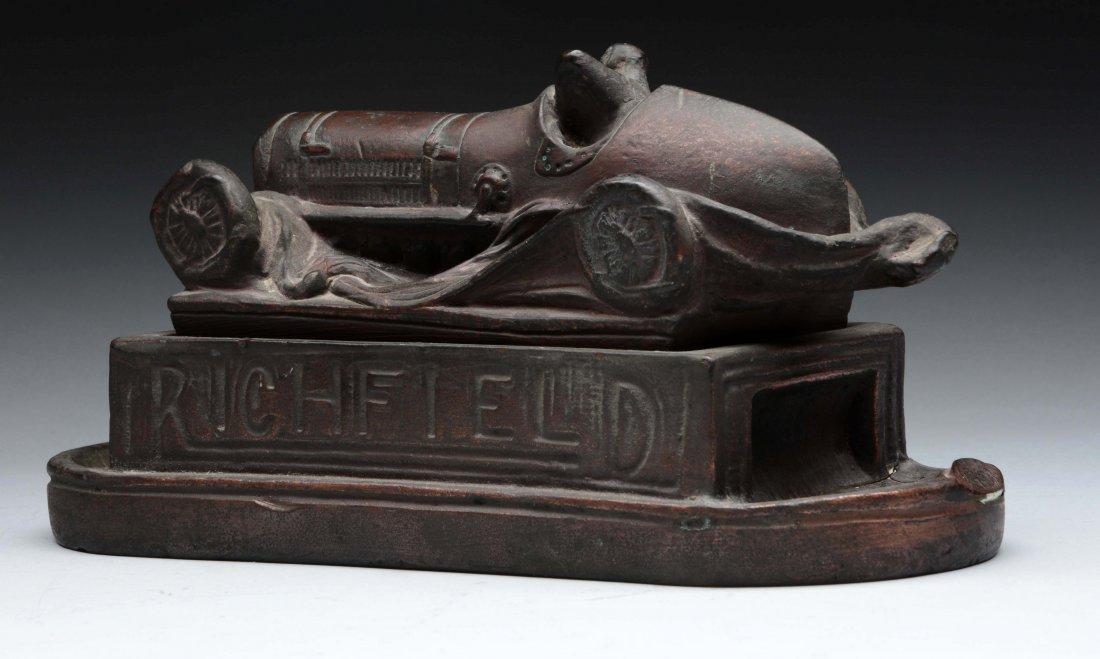 Unusual Composition Richfield Racing Car Cigar Box - 3