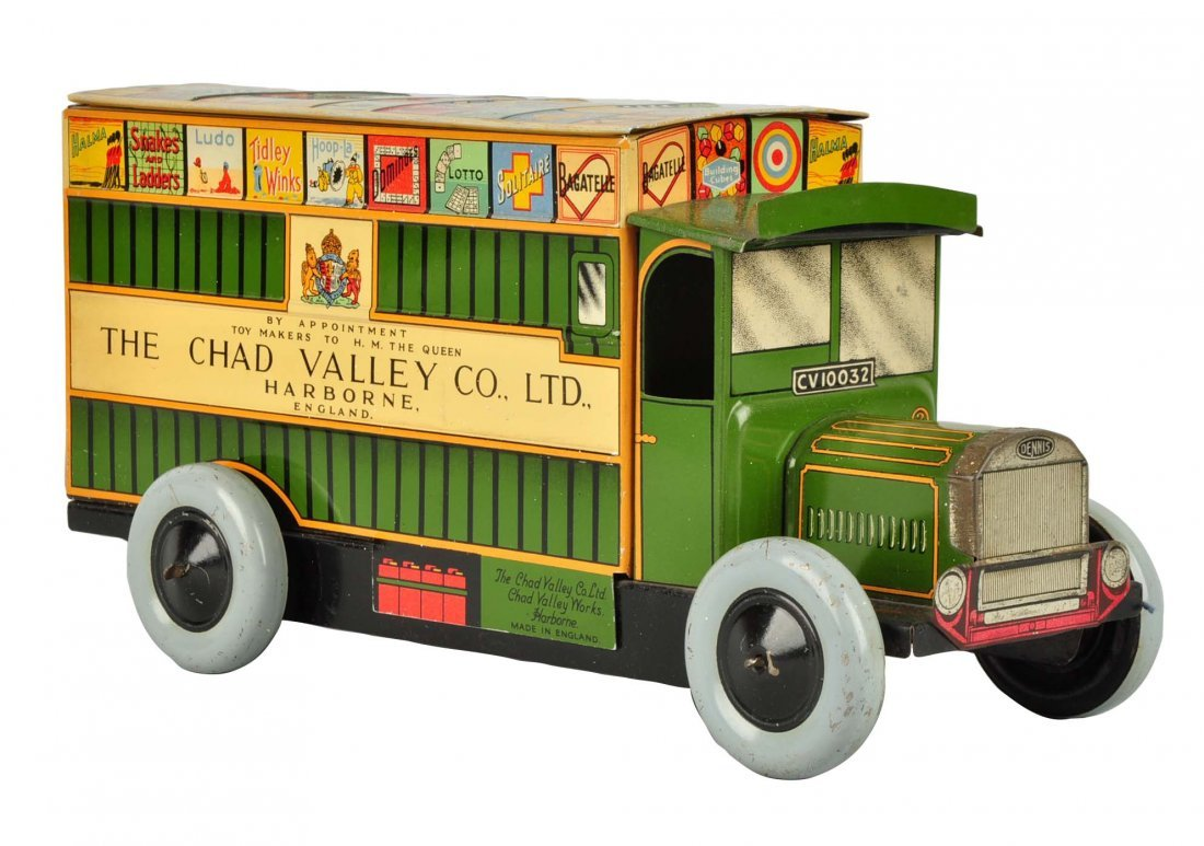 English Litho Wind Up Chad Valley Advertising Van
