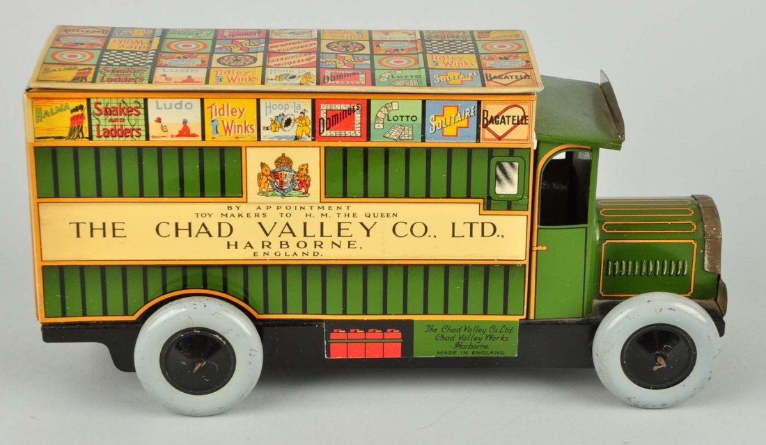 English Litho Wind Up Chad Valley Advertising Van - 3