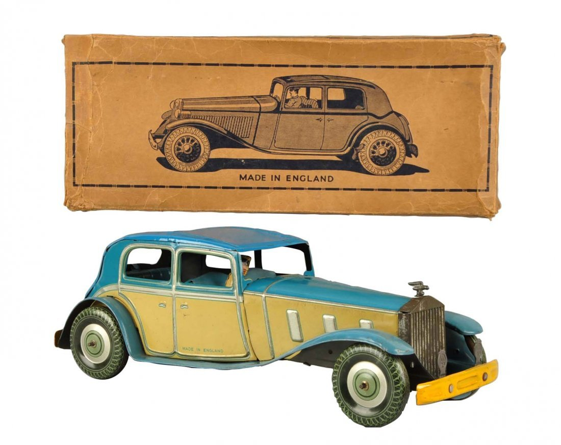 Scarce English Mettoy Tin Wind Up Rolls Royce.