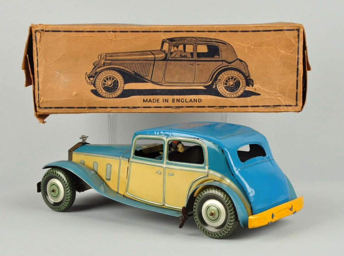 Scarce English Mettoy Tin Wind Up Rolls Royce. - 2