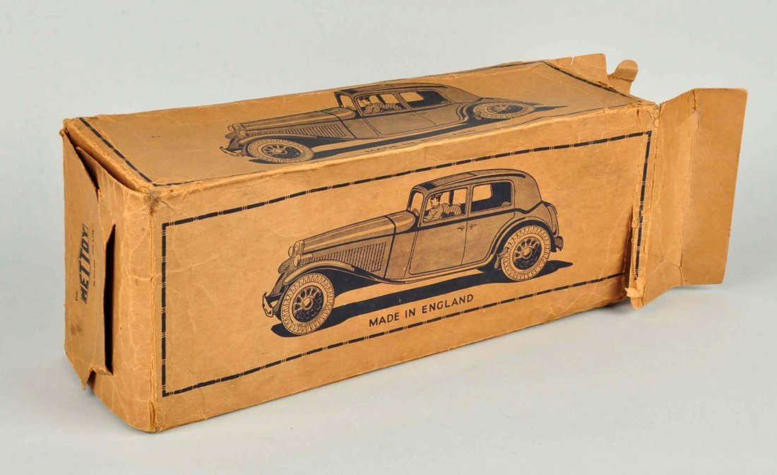 Scarce English Mettoy Tin Wind Up Rolls Royce. - 4