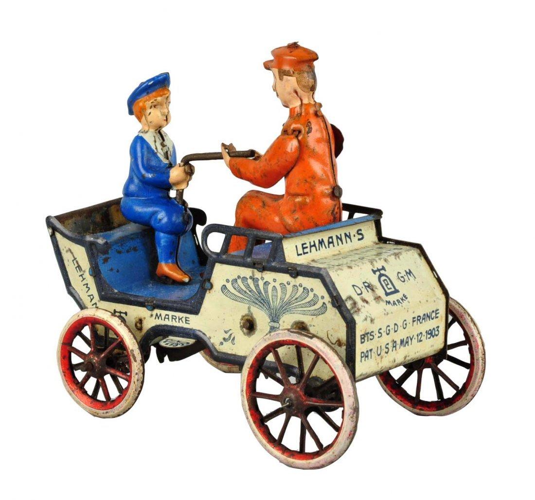 German Lehmann Tin Litho Wind up Naughty Boy Toy.