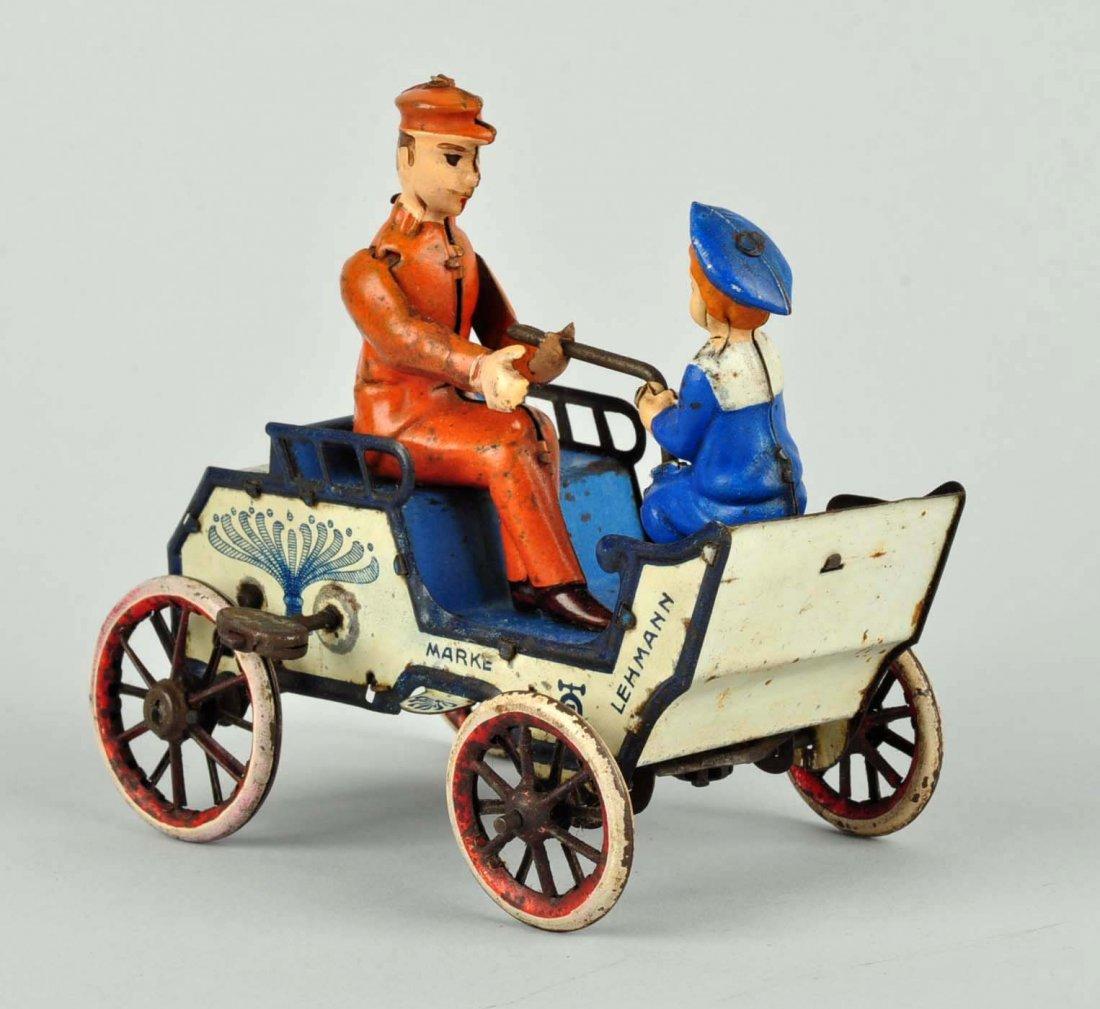 German Lehmann Tin Litho Wind up Naughty Boy Toy. - 2