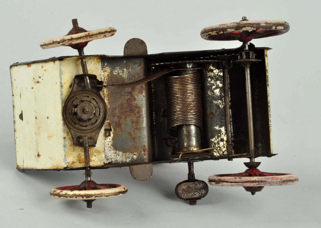 German Lehmann Tin Litho Wind up Naughty Boy Toy. - 4