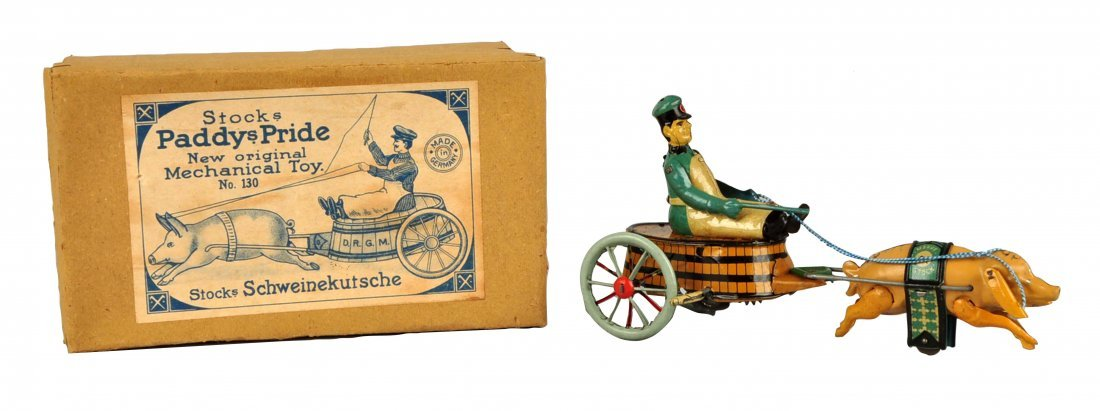 German Stock Tin Litho Wind-Up Paddy's Pride Toy.