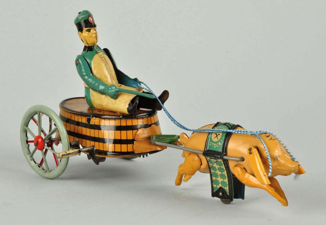 German Stock Tin Litho Wind-Up Paddy's Pride Toy. - 4