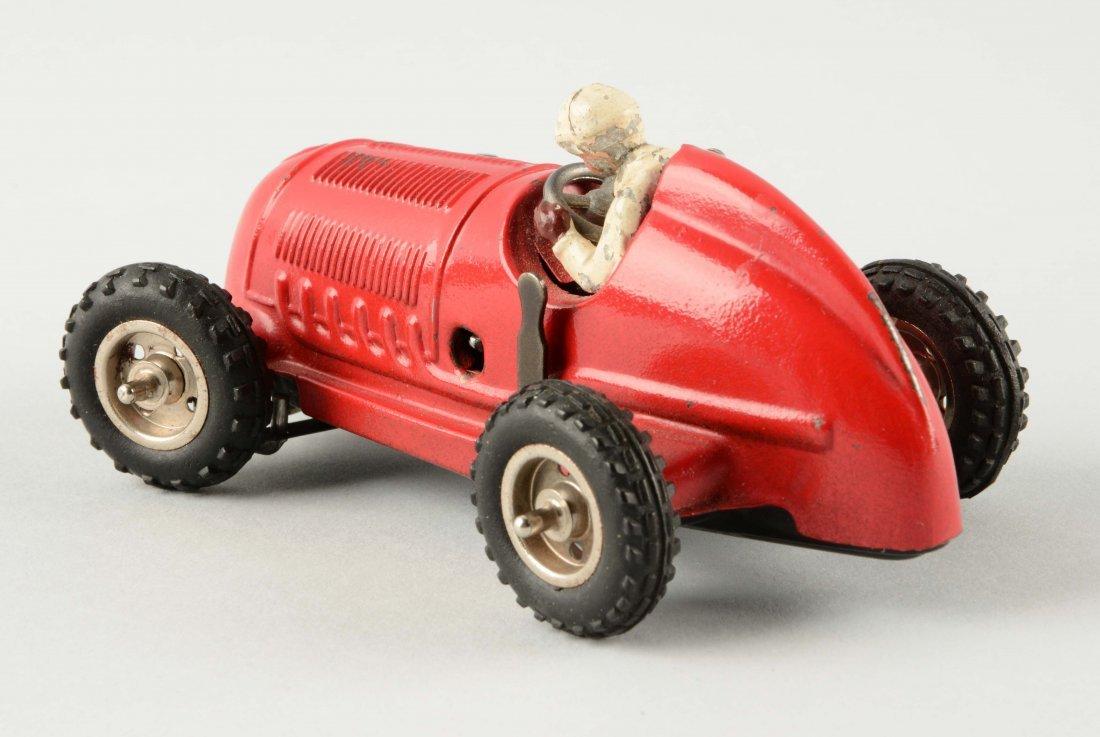 German Tin Litho Wind Up Mercedes Race Car. - 2