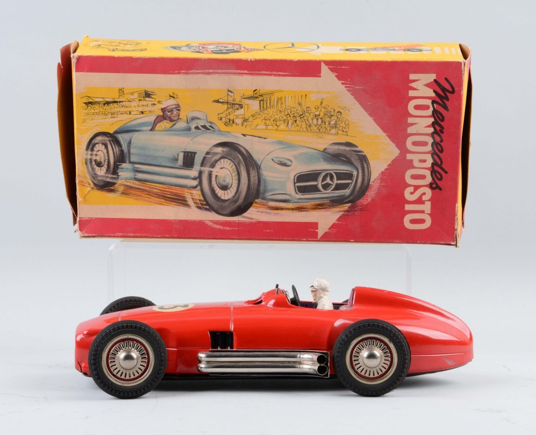 German JNF Tin Litho Friction Race Car. - 2