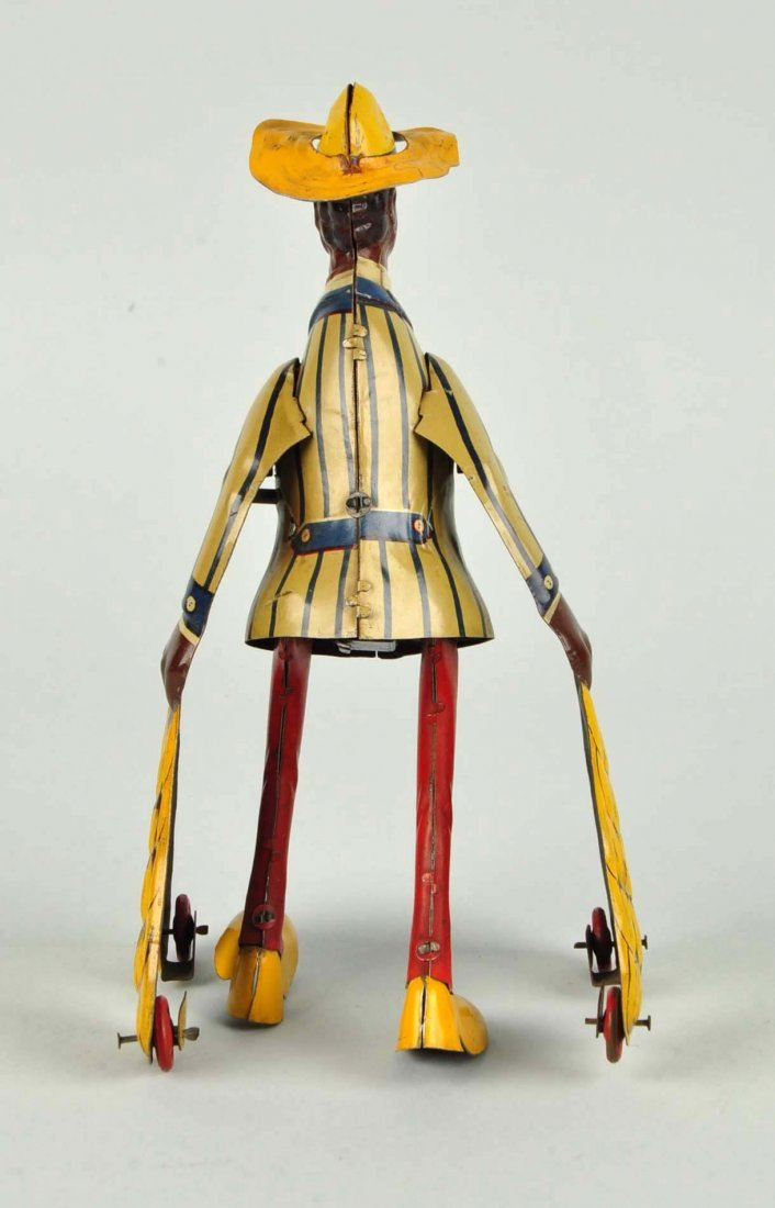 German Distler Tin Litho Wind-Up Banana Man Toy. - 4