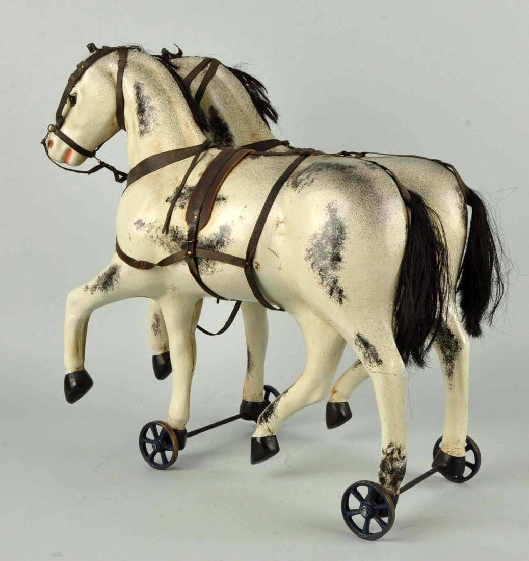 Scarce Well Done German Carriage Horses. - 2
