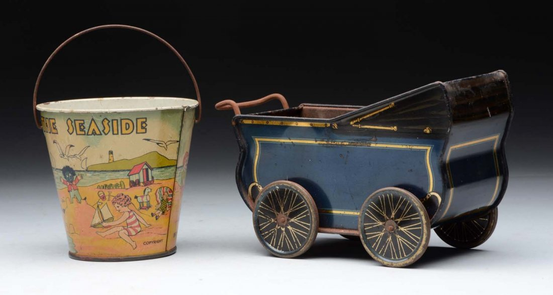 Lot Of 2: Pre War English Tin Litho Toys. - 2