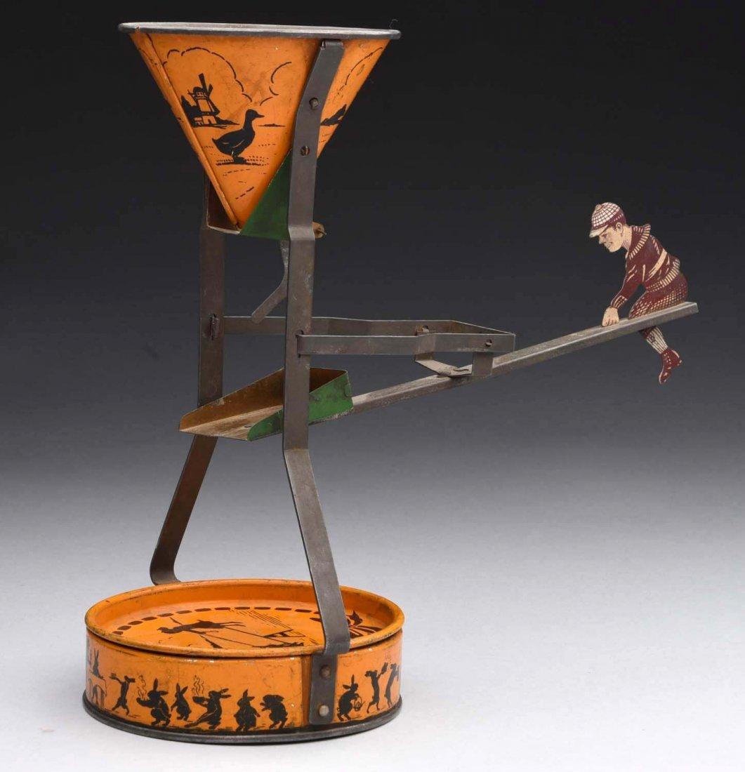 Flossie Fisher Tin Sand Dump Toy. - 2