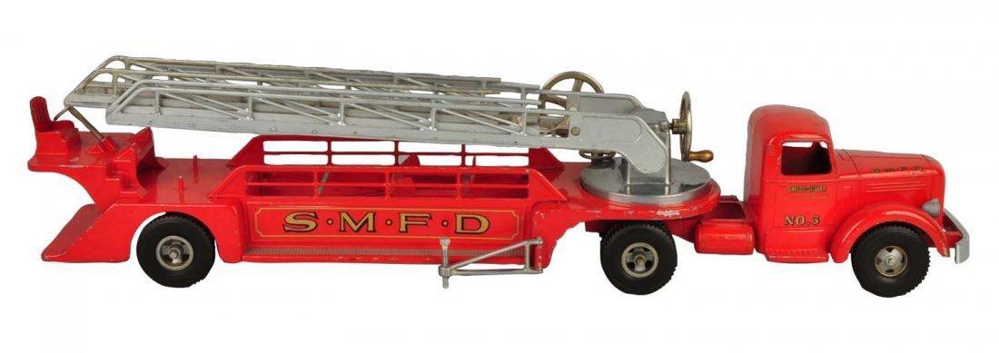 Pressed Steel Smith Miller Fire Ladder Truck.