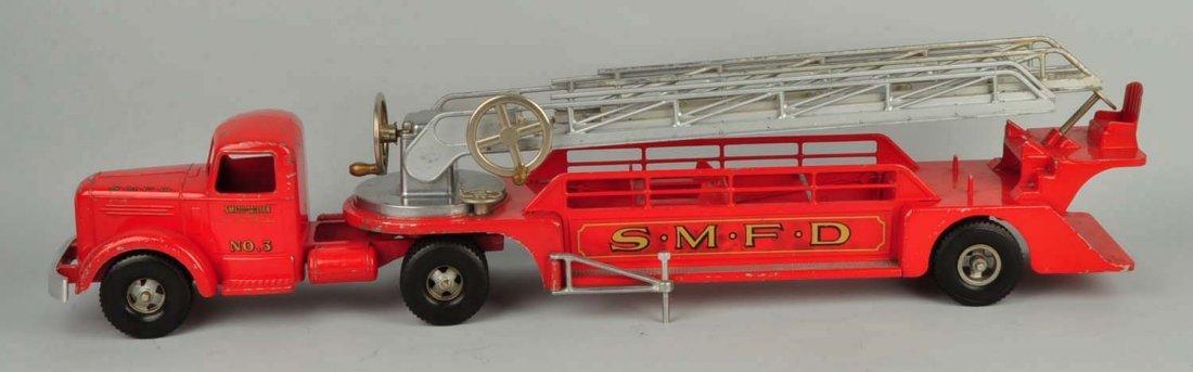 Pressed Steel Smith Miller Fire Ladder Truck. - 2