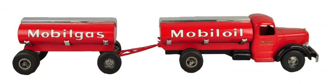 Pressed Steel Smith-Miller Mobilgas Tanker Truck.