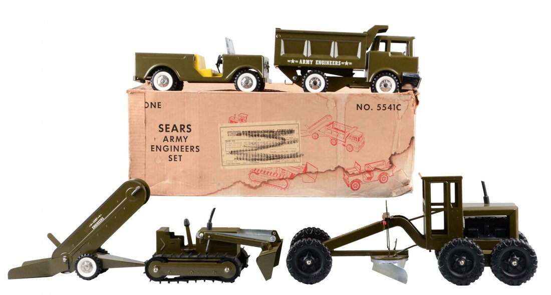 Structo Made for Sears Army Engineers Set No. 554.