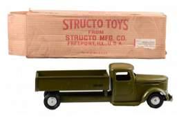 Press Steel Structo Green Army Dump Truck