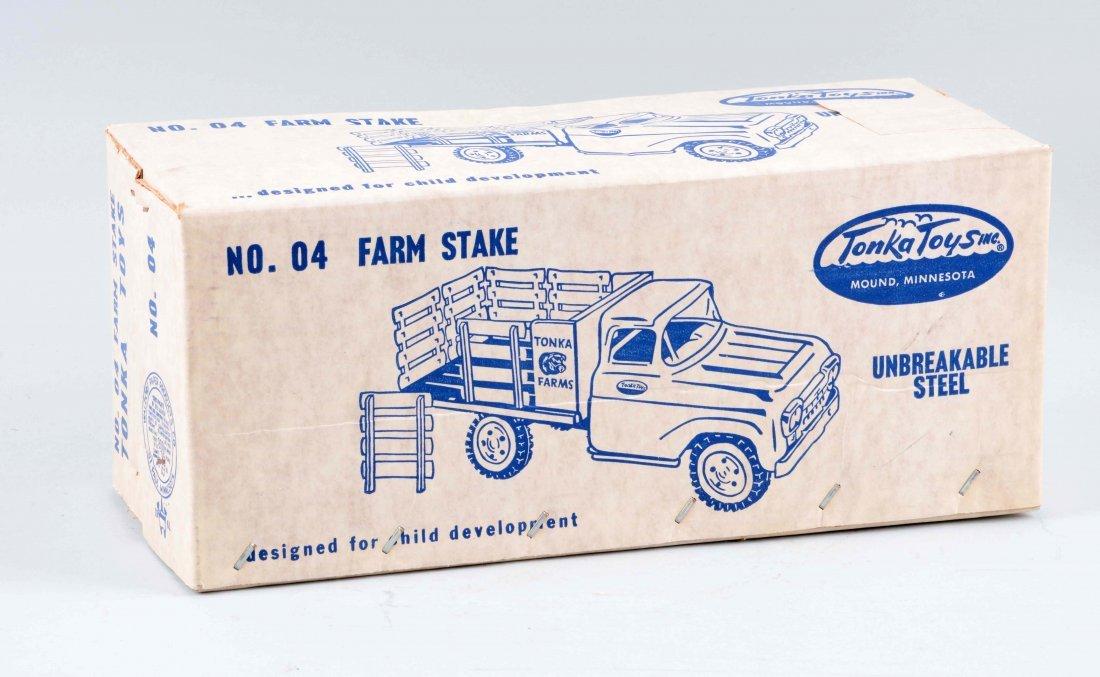 Pressed Steel Tonka Farm Stake Truck. - 3