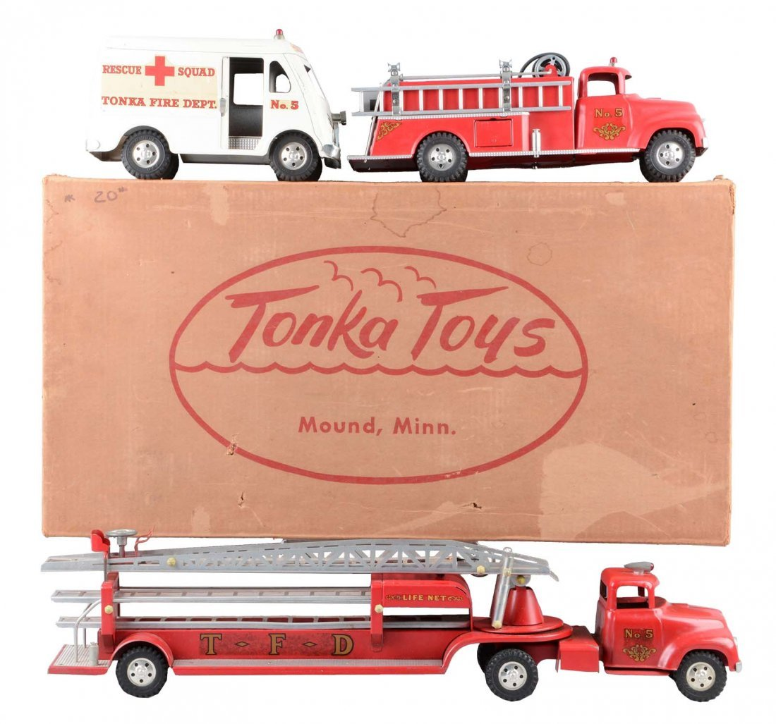 Tonka Fire Department Set with Original Box.