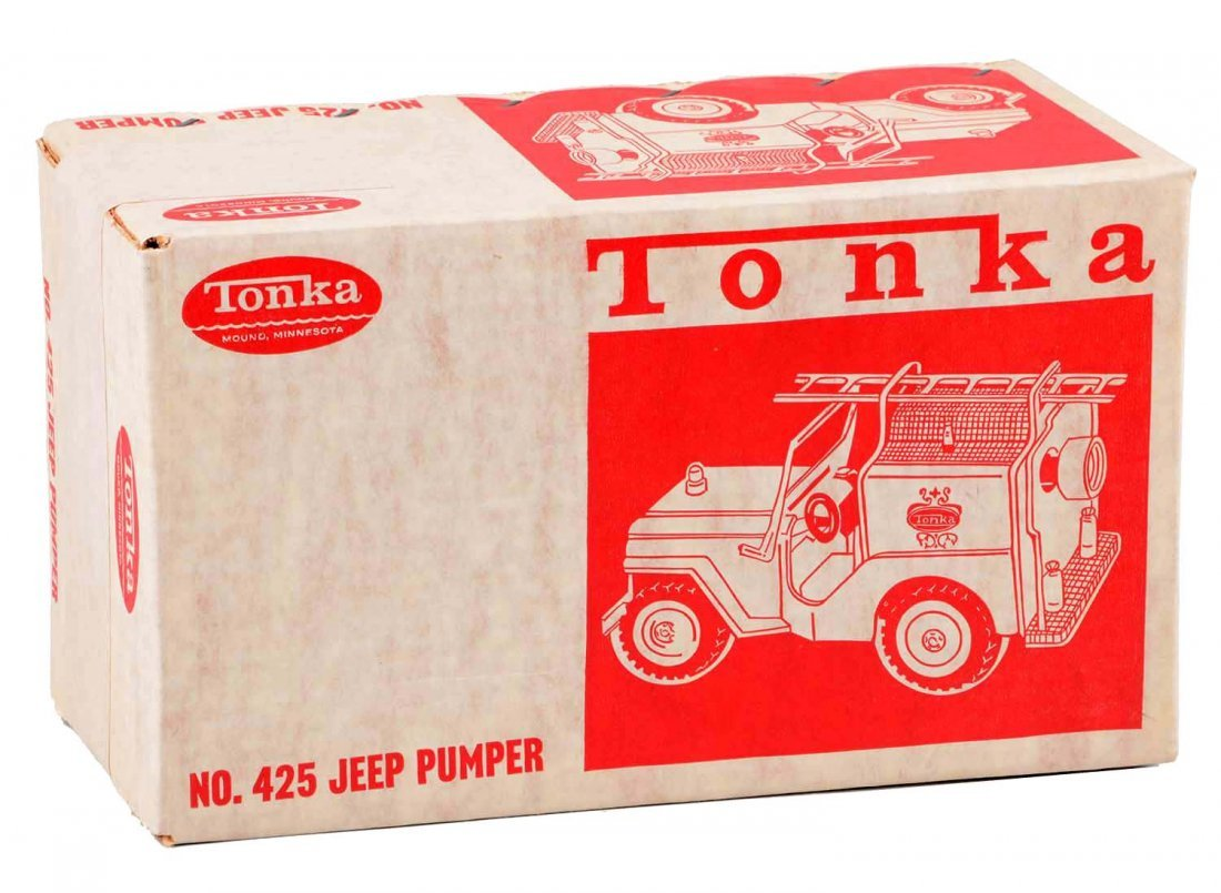 Tonka Jeep Fire Pumper No. 425.