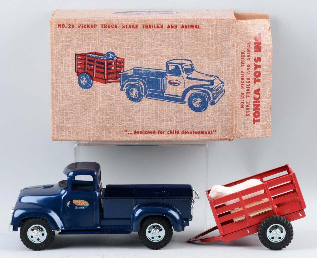 Tonka Pickup Truck w/ Stake Trailer No 28. - 2