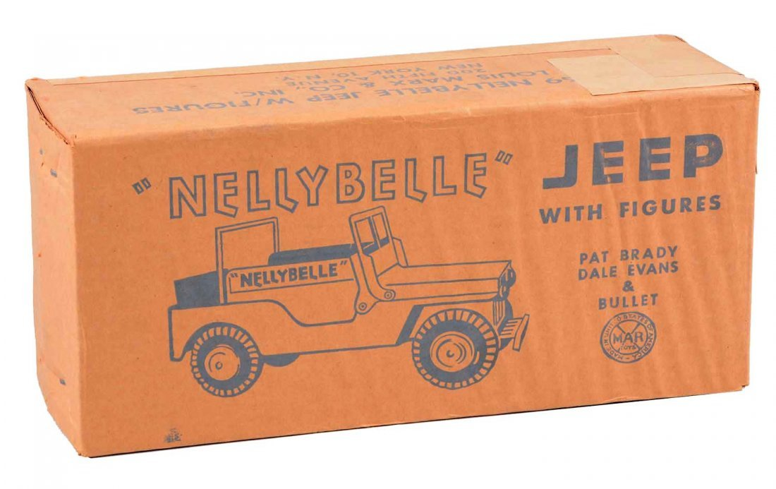 Marx NellyBelle Jeep w/ Figures.