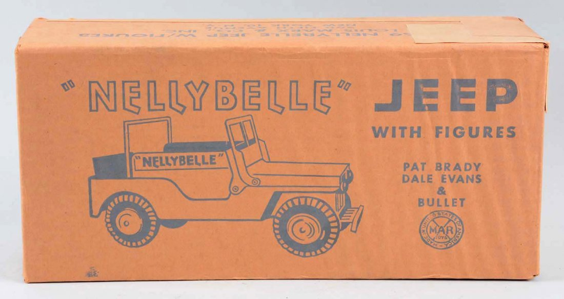 Marx NellyBelle Jeep w/ Figures. - 2