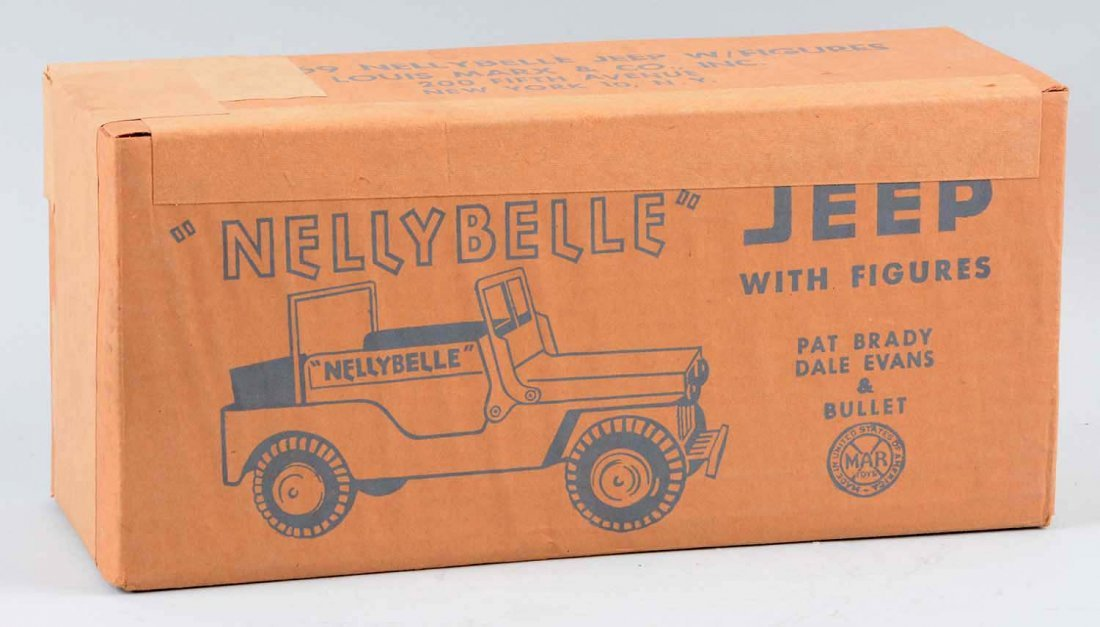 Marx NellyBelle Jeep w/ Figures. - 3