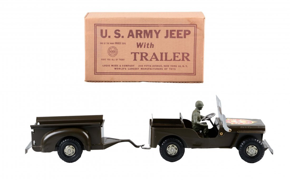 Marx U.S. Army Jeep and Trailer No. 888/246.