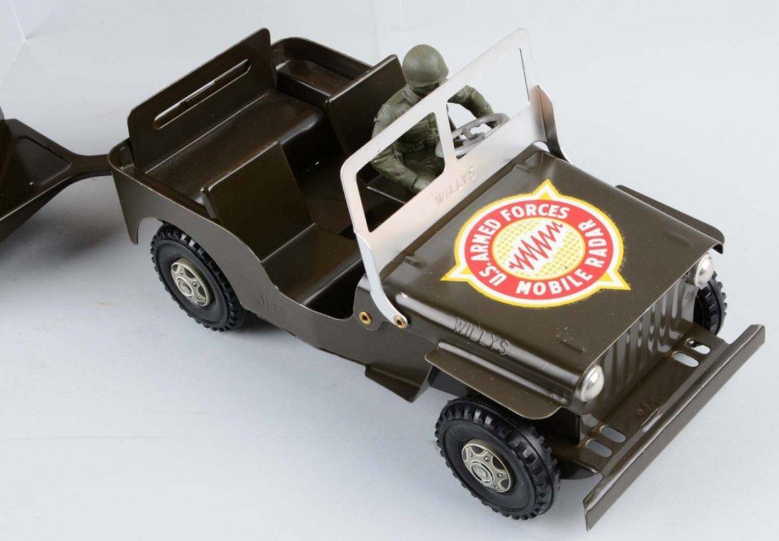 Marx U.S. Army Jeep and Trailer No. 888/246. - 3