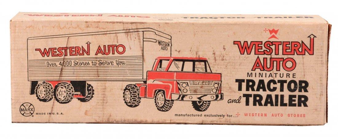 Marx Western Auto Tractor-Trailer.