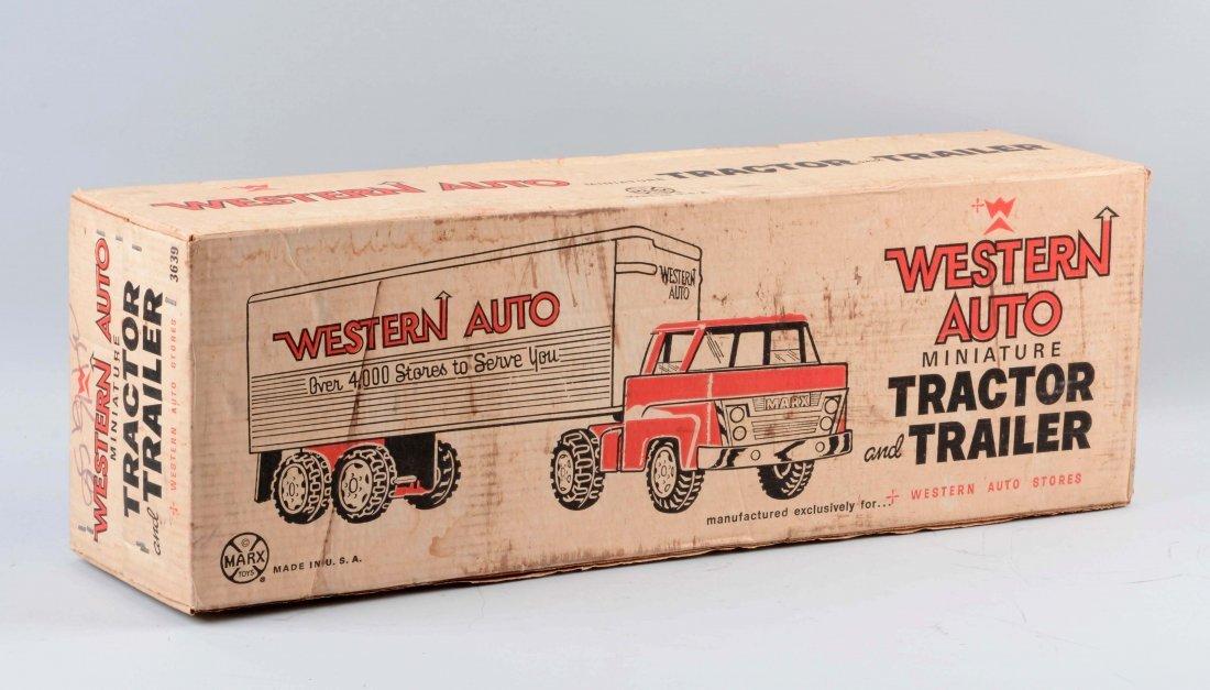 Marx Western Auto Tractor-Trailer. - 2