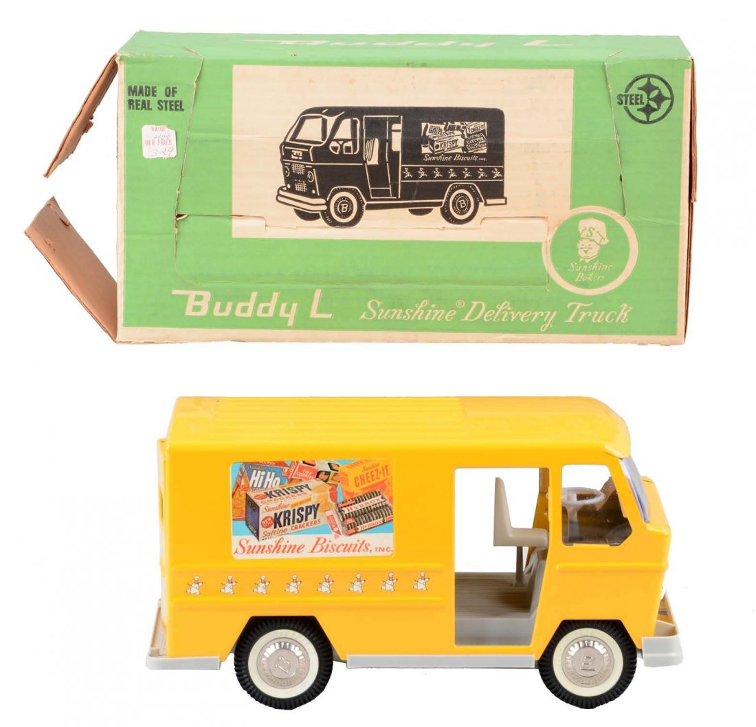 Pressed Steel Buddy L Sunshine Biscuits Truck.