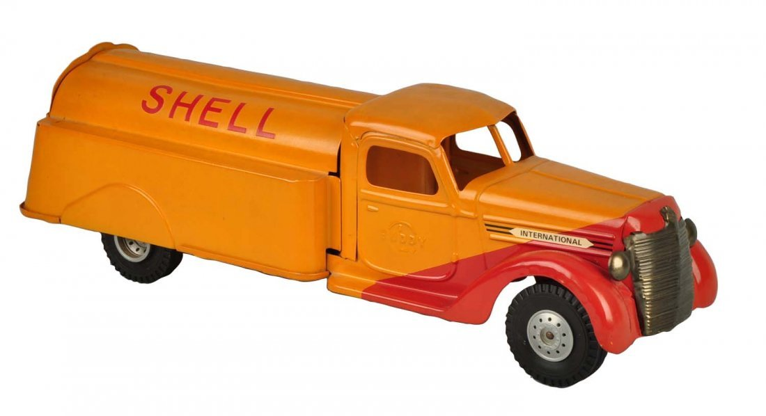 Pressed Steel Buddy-L Shell Tanker Truck.