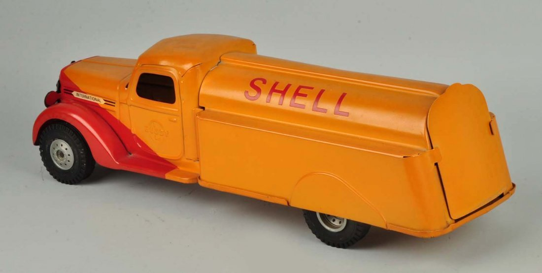 Pressed Steel Buddy-L Shell Tanker Truck. - 2