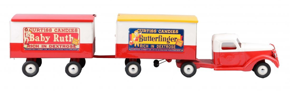 Pressed Steel Buddy L Curtis Candies Truck.