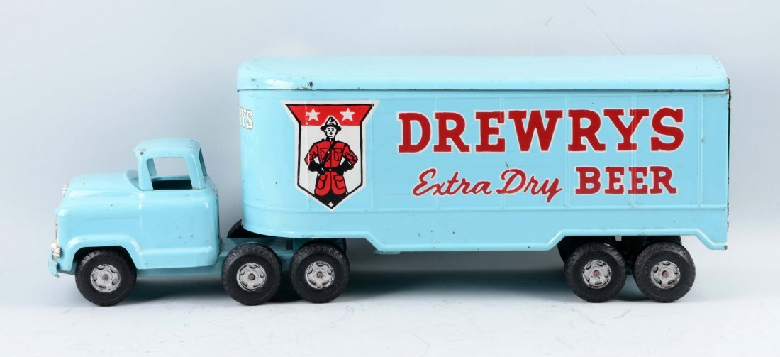 Pressed Steel Buddy L Drewry's Beer Tractor. - 2